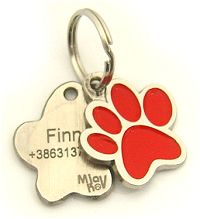 Pet tags for dogs - engraved