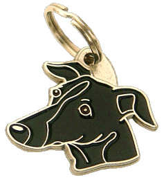 pet tag-SIGHTHOUND BLACK