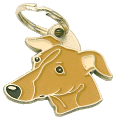 pet tag-SIGHTHOUND BROWN