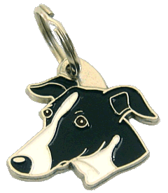 pet tag-WHIPPET BLACK AND WHITE