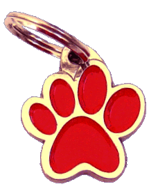 pet tag-PAW MJAVHOV RED