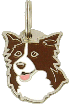 pet tag-BORDER COLLIE BROWN