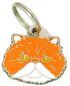 pet tag-Persian cat white & red