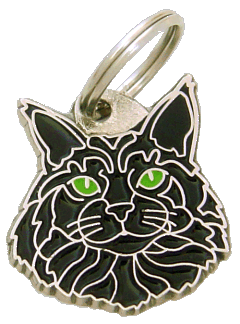 pet tag-Maine Coon black