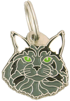 pet tag-Maine Coon blue