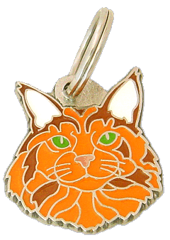 pet tag-Maine Coon red