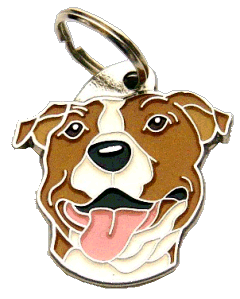 pet tag-AMERICAN STAFFORDSHIRE TERRIER WH/BR