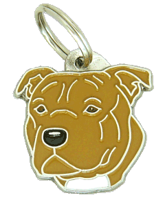 pet tag-STAFFORDSHIRE BULLTERRIER BROWN