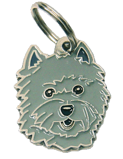 pet tag-CAIRN TERRIER GREY