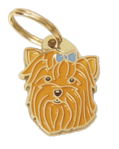 pet tag-YORKSHIRE TERRIER BLUE