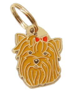 pet tag-YORKSHIRE TERRIER RED