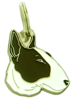 pet tag-BULL TERRIER WHITE BRINDLE