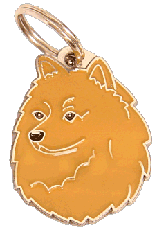 pet tag-GERMAN SPITZ RED