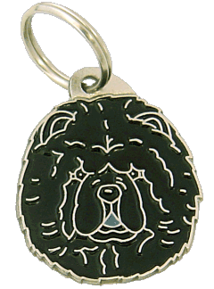 pet tag-CHOW CHOW BLACK