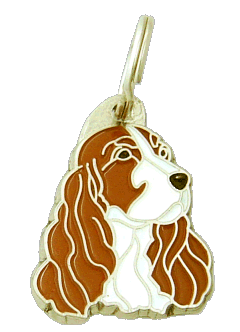 pet tag-COCKER WHITE & RED