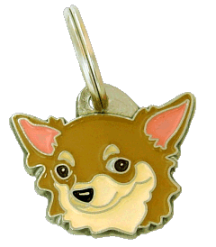 pet tag-CHIHUAHUA LONG HAIRED CREAM