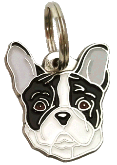 pet tag-FRENCH BULLDOG BLACK AND WHITE