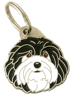 pet tag-HAVANESE BLACK AND WHITE
